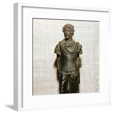Gaullish prisoner, Roman bronze statuette, c1st century. Artist: Unknown-Unknown-Framed Giclee Print