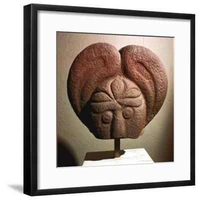 Celtic stone head, Heidelberg, Germany, c5th - 4th century BC. Artist: Unknown-Unknown-Framed Giclee Print