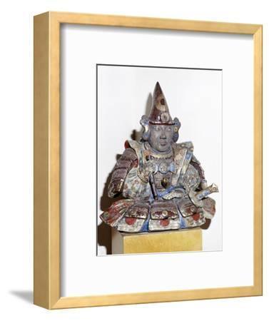 Figure of a Samurai warrior, Japanese. Artist: Unknown-Unknown-Framed Giclee Print