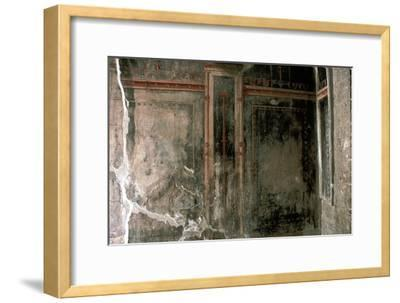 Wall decoration in a house in the Roman town of Herculaneum, Italy. Artist: Unknown-Unknown-Framed Giclee Print