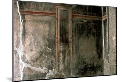 Wall decoration in a house in the Roman town of Herculaneum, Italy. Artist: Unknown-Unknown-Mounted Giclee Print