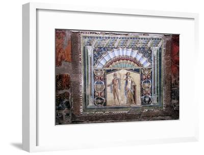 Roman mosaic of Neptune and Amphitrite, Herculaneum, Italy. Artist: Unknown-Unknown-Framed Giclee Print