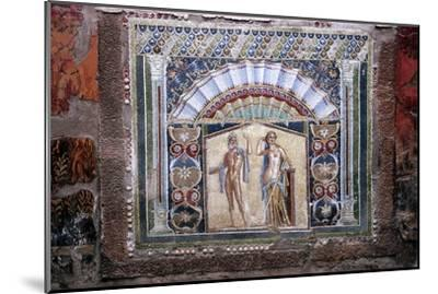Roman mosaic of Neptune and Amphitrite, Herculaneum, Italy. Artist: Unknown-Unknown-Mounted Giclee Print