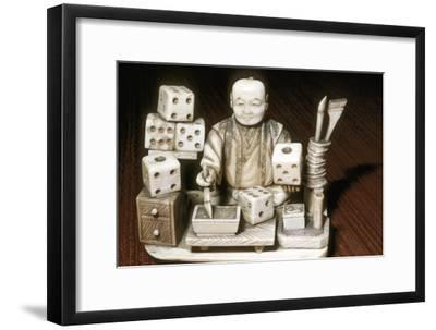Dice painter, Japanese, c1860. Artist: Unknown-Unknown-Framed Giclee Print