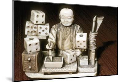 Dice painter, Japanese, c1860. Artist: Unknown-Unknown-Mounted Giclee Print