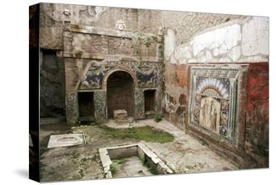 Interior garden-room in the House of Neptune, Herculaneum, Italy. Artist: Unknown-Unknown-Stretched Canvas Print
