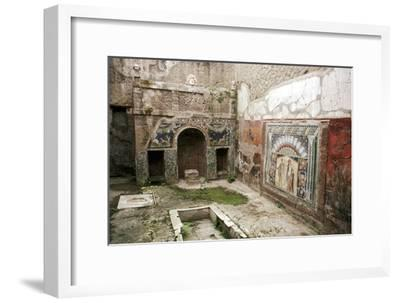 Interior garden-room in the House of Neptune, Herculaneum, Italy. Artist: Unknown-Unknown-Framed Giclee Print