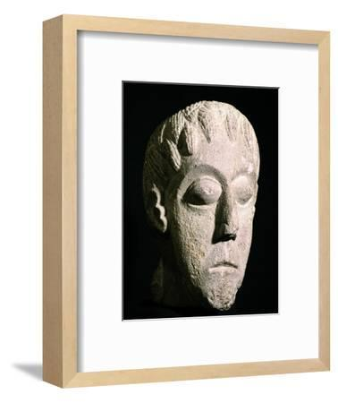 Celtic head, Bon Marche site, Gloucester, England. Artist: Unknown-Unknown-Framed Giclee Print