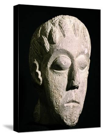 Celtic head, Bon Marche site, Gloucester, England. Artist: Unknown-Unknown-Stretched Canvas Print