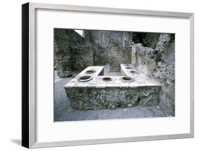 A Roman snack-bar, Herculaneum, Italy, 1st century. Artist: Unknown-Unknown-Framed Giclee Print