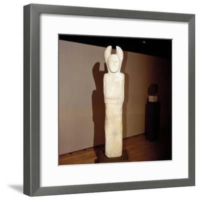 Celtic stone Janus-figure, Holzgerlin, Wurttemburg, Germany, 6th - 4th century BC. Artist: Unknown-Unknown-Framed Giclee Print