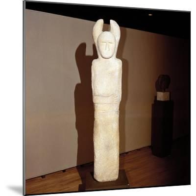 Celtic stone Janus-figure, Holzgerlin, Wurttemburg, Germany, 6th - 4th century BC. Artist: Unknown-Unknown-Mounted Giclee Print