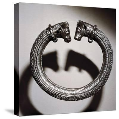 Celtic silver torc, Stuttgart, Germany, 2nd century BC. Artist: Unknown-Unknown-Stretched Canvas Print