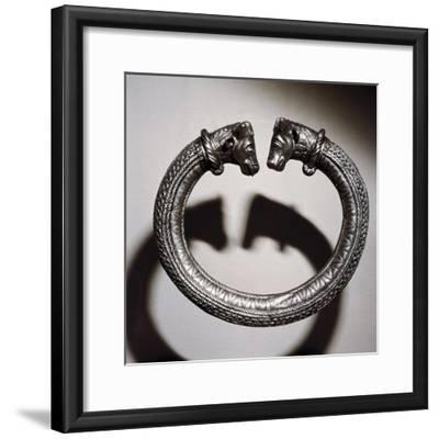 Celtic silver torc, Stuttgart, Germany, 2nd century BC. Artist: Unknown-Unknown-Framed Giclee Print