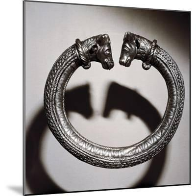 Celtic silver torc, Stuttgart, Germany, 2nd century BC. Artist: Unknown-Unknown-Mounted Giclee Print