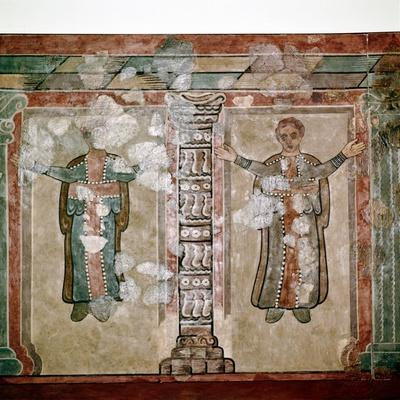 Christian wallpainting, Lullingstone Roman Villa, Kent, c350. Artist: Unknown-Unknown-Framed Giclee Print