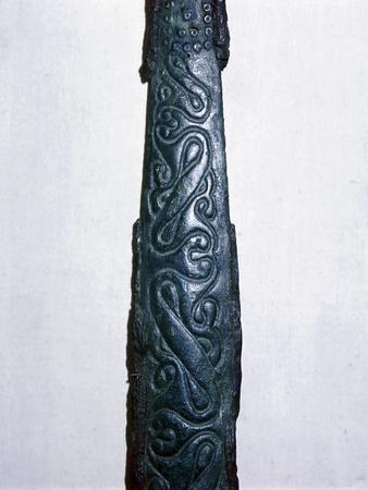 Celtic bronze & iron sword scabbard, North Italy, late 4th century BC. Artist: Unknown-Unknown-Framed Giclee Print