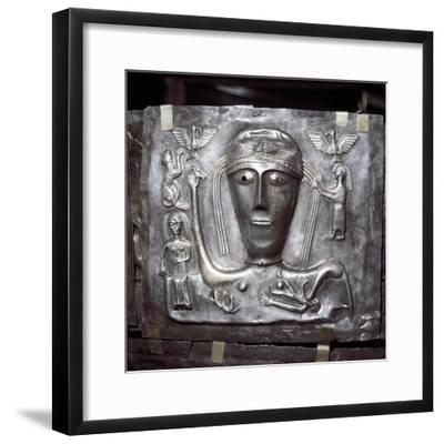 Gundestrup Cauldron, Celtic Goddess with eagles, Danish, c100 BC. Artist: Unknown-Unknown-Framed Giclee Print