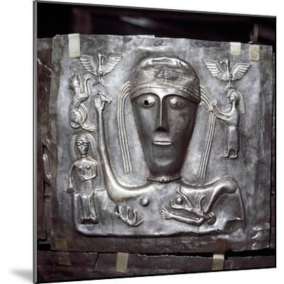 Gundestrup Cauldron, Celtic Goddess with eagles, Danish, c100 BC. Artist: Unknown-Unknown-Mounted Giclee Print