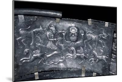 Detail of Gundestrup Cauldron, Celtic God Taranis, Danish, c100 BC. Artist: Unknown-Unknown-Mounted Giclee Print