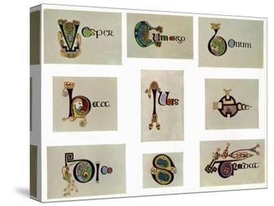 Compound letters, 800 AD, (20th century). Artist: Unknown-Unknown-Stretched Canvas Print