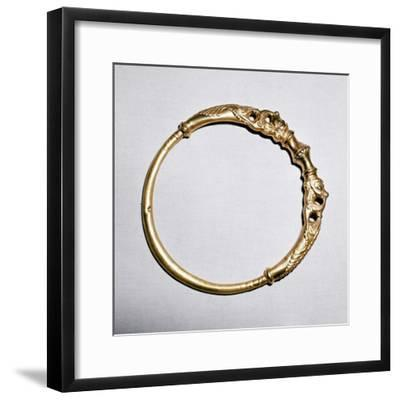 Celtic gold torc, Ersfield, Switzerland, 5th - 4th century BC. Artist: Unknown-Unknown-Framed Giclee Print