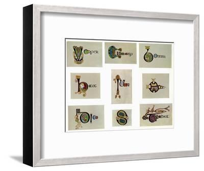 Compound letters, 800 AD, (20th century). Artist: Unknown-Unknown-Framed Giclee Print