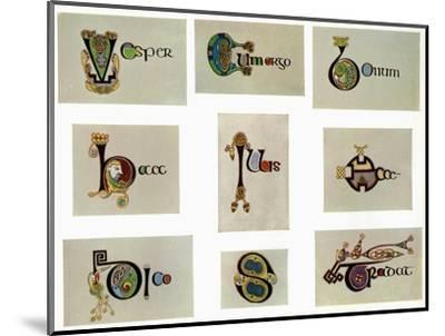 Compound letters, 800 AD, (20th century). Artist: Unknown-Unknown-Mounted Giclee Print