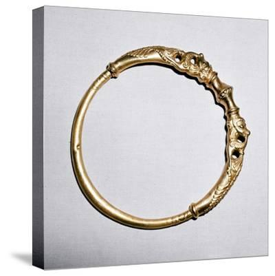 Celtic gold torc, Ersfield, Switzerland, 5th - 4th century BC. Artist: Unknown-Unknown-Stretched Canvas Print
