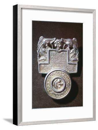 Gilt brooch, Germanic Iron Age, c500. Artist: Unknown-Unknown-Framed Giclee Print