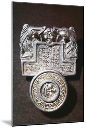 Gilt brooch, Germanic Iron Age, c500. Artist: Unknown-Unknown-Mounted Giclee Print