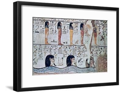 Tomb of Sethi I, Valley of the Kings, Egypt, 13th century BC. Artist: Unknown-Unknown-Framed Giclee Print