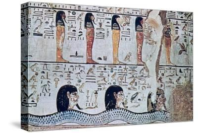 Tomb of Sethi I, Valley of the Kings, Egypt, 13th century BC. Artist: Unknown-Unknown-Stretched Canvas Print