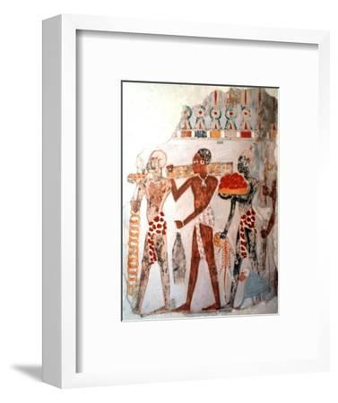 Africans bearing gold and other items, c1400 BC. Artist: Unknown-Unknown-Framed Giclee Print