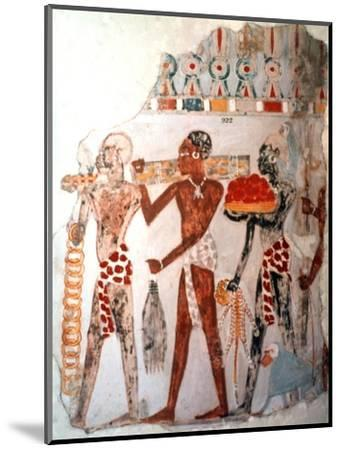 Africans bearing gold and other items, c1400 BC. Artist: Unknown-Unknown-Mounted Giclee Print