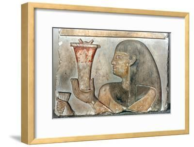 Detail of a bas relief from El-Bahrain, Egypt, 22nd-20th century BC. Artist: Unknown-Unknown-Framed Giclee Print
