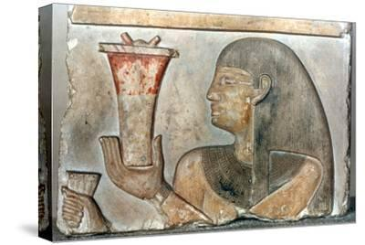 Detail of a bas relief from El-Bahrain, Egypt, 22nd-20th century BC. Artist: Unknown-Unknown-Stretched Canvas Print
