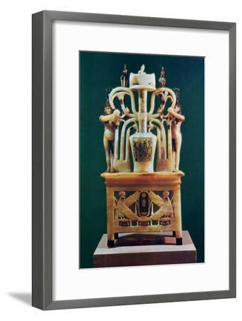 Alabaster perfume vase from the Tomb of Tutankhamun, 14th century BC. Artist: Unknown-Unknown-Framed Giclee Print