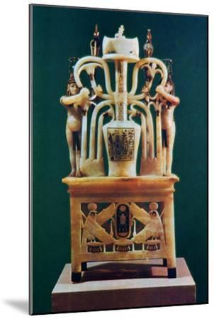 Alabaster perfume vase from the Tomb of Tutankhamun, 14th century BC. Artist: Unknown-Unknown-Mounted Giclee Print