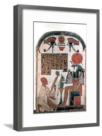 Ancient Egyptian stele, 11th-10th century BC. Artist: Unknown-Unknown-Framed Giclee Print