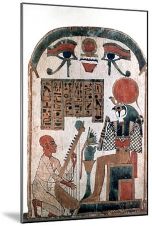 Ancient Egyptian stele, 11th-10th century BC. Artist: Unknown-Unknown-Mounted Giclee Print