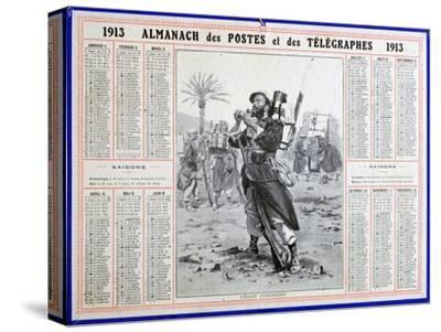 French Foreign Legion, 1913. Artist: Unknown-Unknown-Stretched Canvas Print