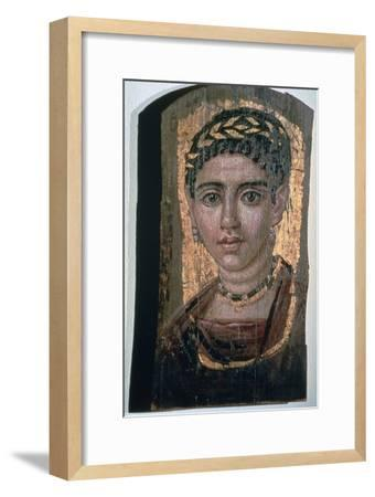 Mummy portrait of an Egyptian woman, c1st-3rd century. Artist: Unknown-Unknown-Framed Giclee Print
