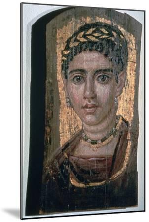 Mummy portrait of an Egyptian woman, c1st-3rd century. Artist: Unknown-Unknown-Mounted Giclee Print