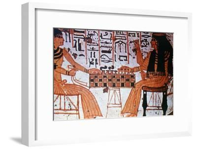 Chapel Interior, Nobles Playing Chess, Thebes, Egypt Artist: Unknown-Unknown-Framed Giclee Print