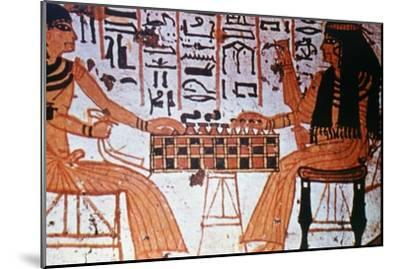 Chapel Interior, Nobles Playing Chess, Thebes, Egypt Artist: Unknown-Unknown-Mounted Giclee Print