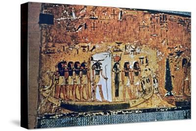 Tomb of Seti I, Valley of the Kings, Egypt, 13th century BC. Artist: Unknown-Unknown-Stretched Canvas Print