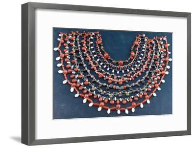 Ancient Egyptian collar, 1st century BC. Artist: Unknown-Unknown-Framed Giclee Print
