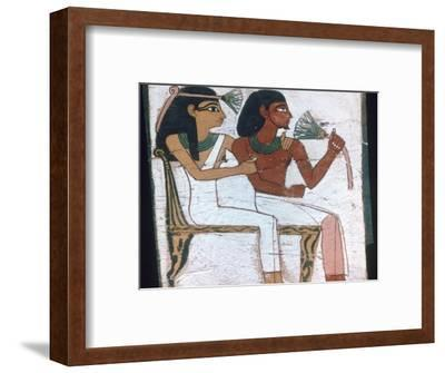 Detail of the decoration of a sarcophagus of The Lady of Madja, 18th Dynasty. Artist: Unknown-Unknown-Framed Giclee Print