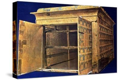 Chest from the tomb of Tutankhamun, 14th century BC. Artist: Unknown-Unknown-Stretched Canvas Print